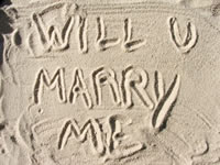 Writing in the sand marriage proposal