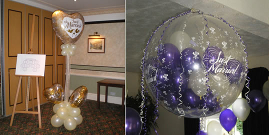 Balloons for weddings party favors ideas