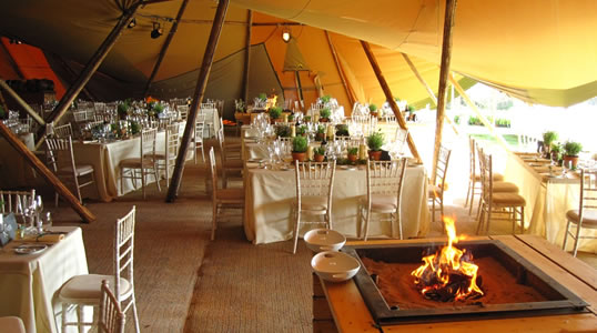 Wedding Tent Hire & Hire a Beautiful Nordic Tipi for Your Wedding - Weddings Cornwall